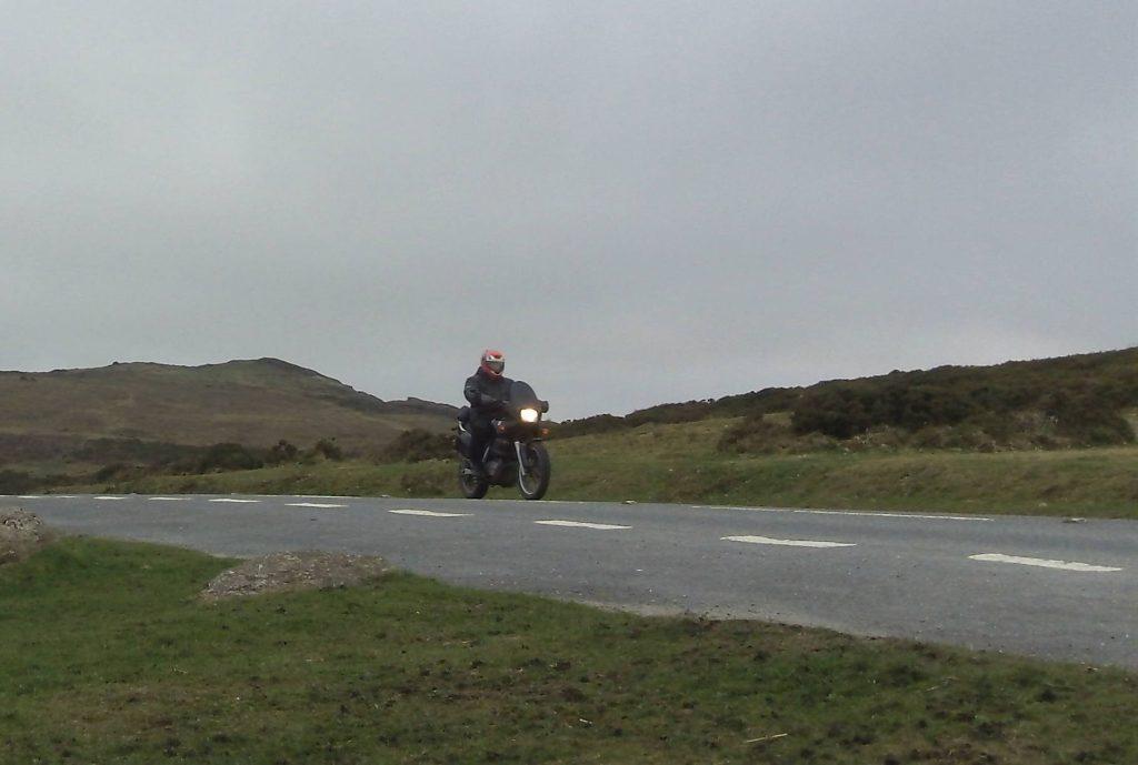 sheepskin seat cover on a motorbike