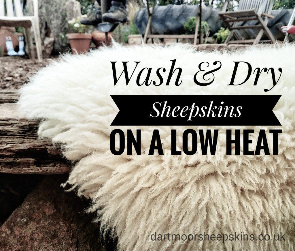 Image with sheepskin washing instructions