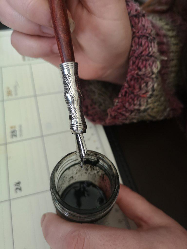 dip pen, natural ink