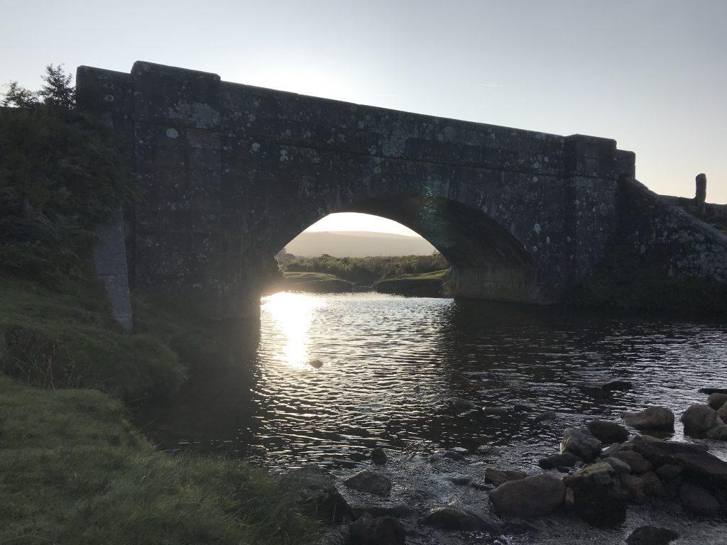 Sun streams through Cadover Bridge