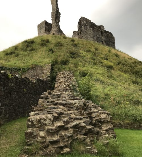 Okehampton castle keep