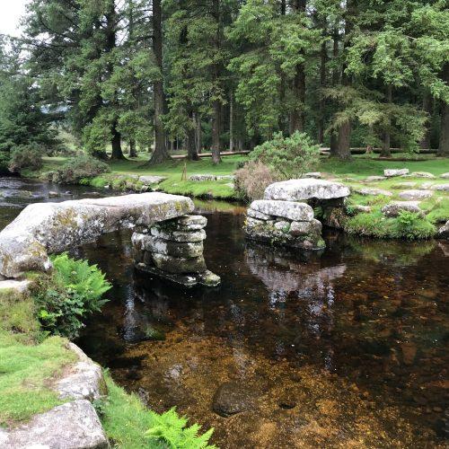 Clapper bridge towards Belever forest